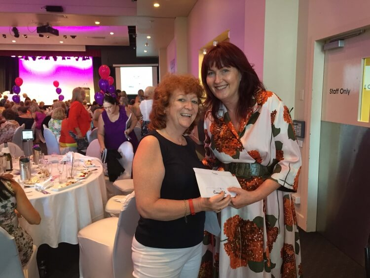 OZbreaks founder Sylvia with the winner of a 2-night stay at Ivory Palms Resort